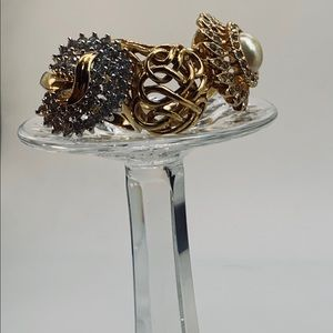 Three Stunning 14k Gold GE Fashion Rings - 7 1/2